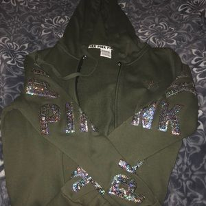 girls army green PINK jacket